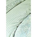 Комплект постельного белья сатин Karaca Home евро размер Vina gri, фото 3