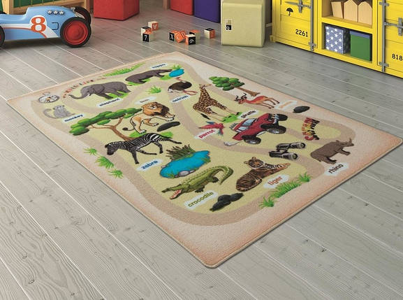 Коврик в детскую комнату Confetti Wild Life Bej 100x150, фото 2
