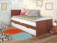 """Детская деревянная кровать """"Компакт"""" яблоня локаро с дополнительным спальным местом. ТМ Арбор Древ."""