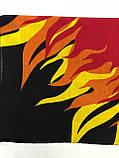 Хлопковая бандана (платок) рисунок пламя цвет красный, фото 3