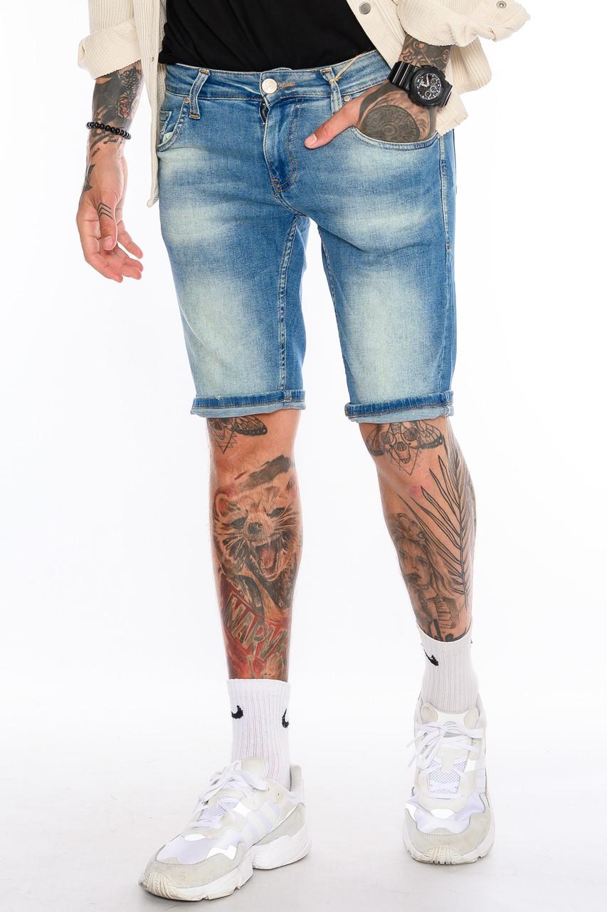 Шорты мужские джинсовые Franco Benussi 19-429 Sof светло-синие