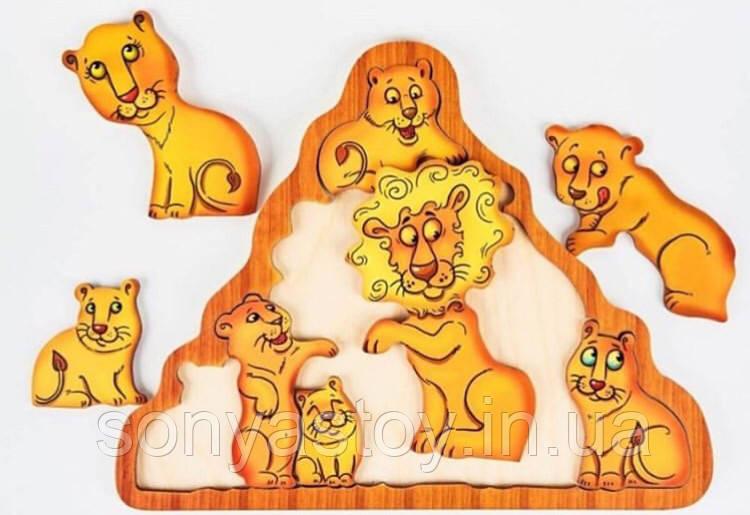 Головоломка Львы, Развивающая игрушка для детей, 2+