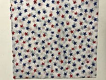 Хлопковая белая  бандана с рисунком синих и красных звёзд