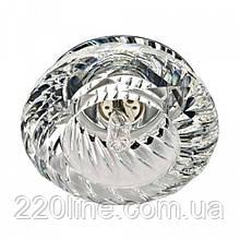 Встраиваемый светильник Feron JD85 прозрачный хром