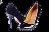 Женские женские туфли на платформе kolari 7077 чёрные   весенние