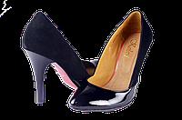 Женские женские туфли на платформе kolari 7077 чёрные   весенние , фото 1