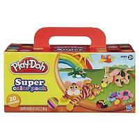 Набор пластилина Супер упаковка 20 цветов Play Doh