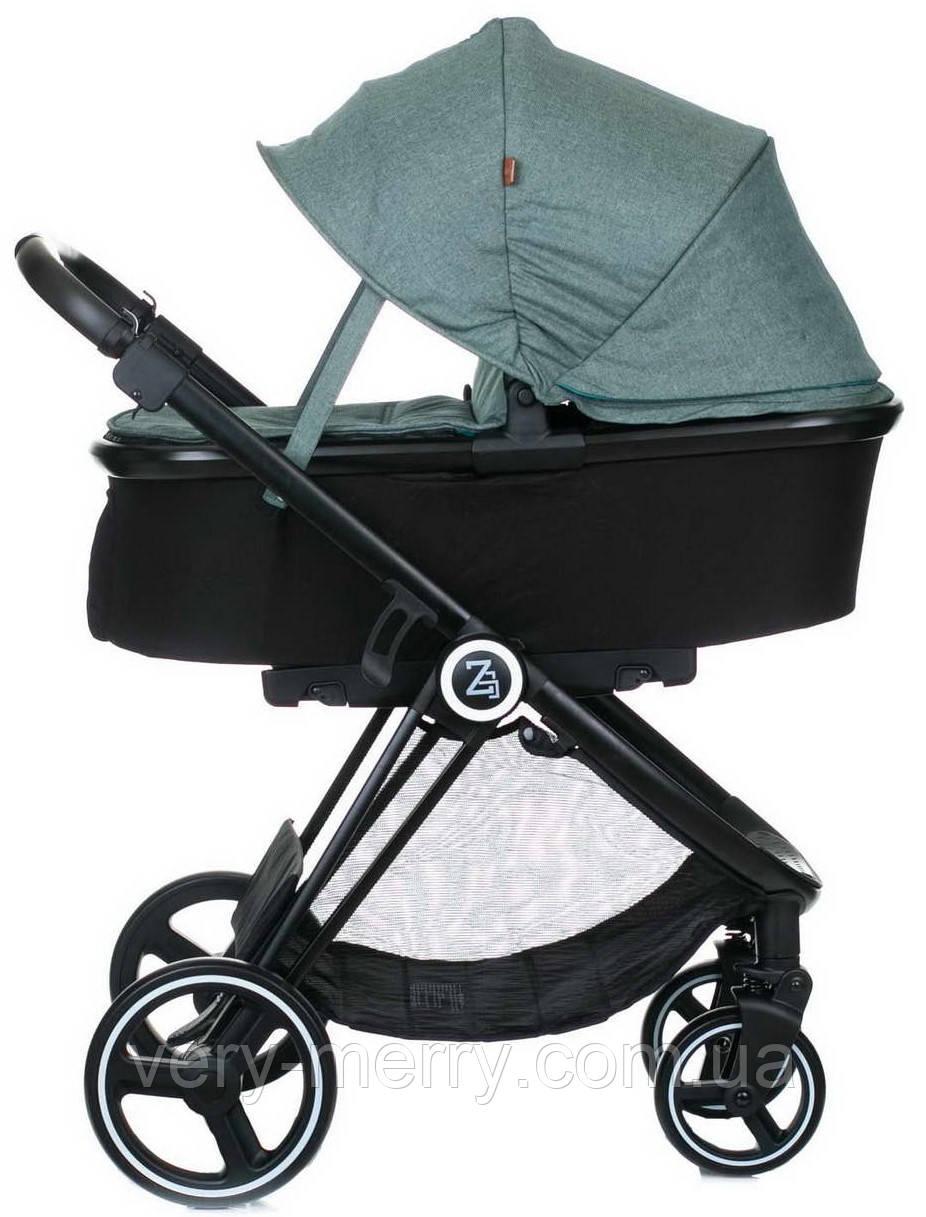 Универсальная коляска 2 в 1 Babyzz B102 (зеленый цвет)