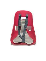 Велокресло детское, переднее легковесное Mini, прочный пластик, модный дизайн Красный