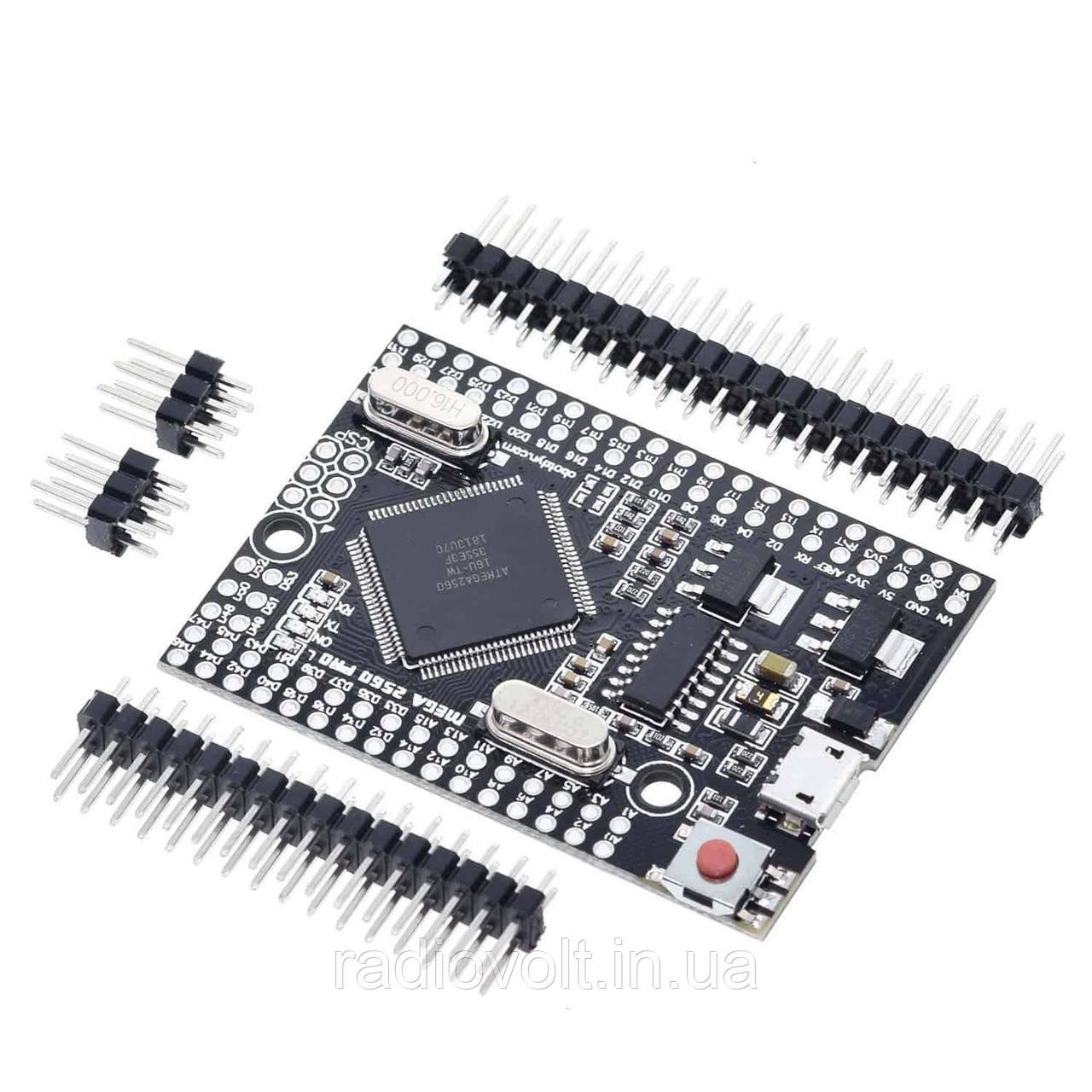 Arduino Mega 2560 PRO, ATmega2560-16AU, MicroUSB CH340G