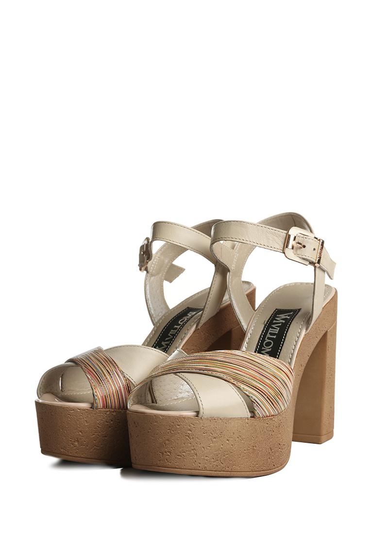 Кожаные женские босоножки на высоком каблуке .  Размер в наличии 38   39