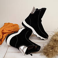 Женские замшевые сапожки зима, фото 1