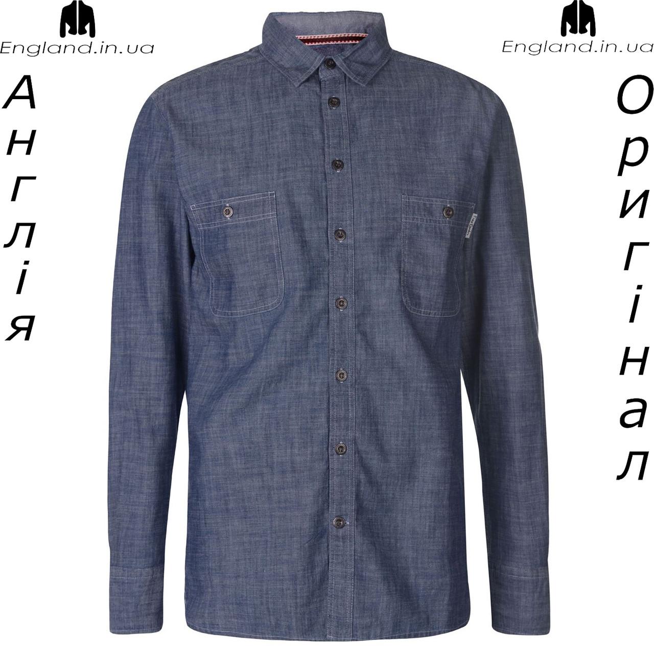 Рубашка деним мужская Pierre Cardin из Англии - на длинный рукав