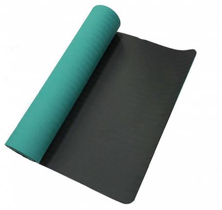 Килимок для йоги «LiveUp» LS3237-06g TPE YOGA MAT 1730х610х6мм, фото 2