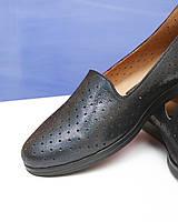 Кожаные туфли с перфорацией. Размер в наличии 36 37 38 40