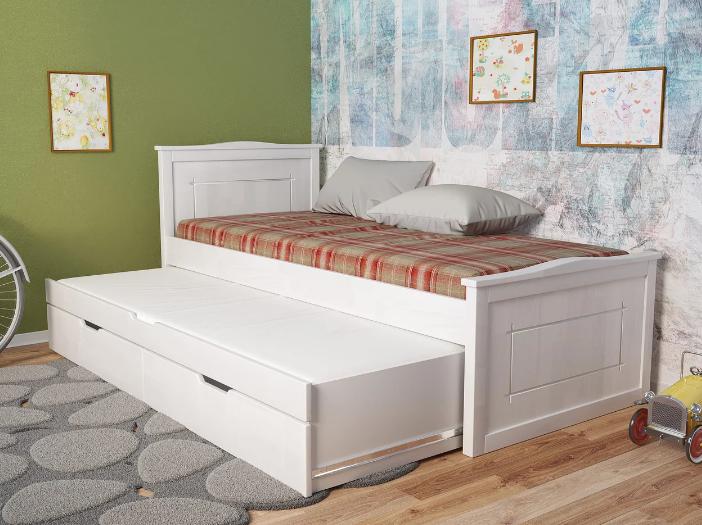 """Детская деревянная кровать """"Компакт плюс"""" орех с дополнительным спальным местом. ТМ Арбор Древ."""