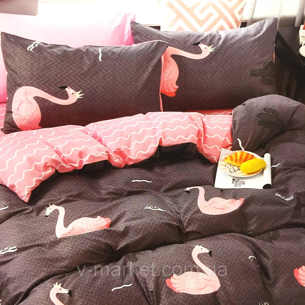 """""""Фламинго"""" постельное белье 3D эффект двуспальный размер, 180/220"""