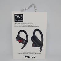 Беспроводные вакуумные Bluetooth Наушники TWS-C2 Чёрные