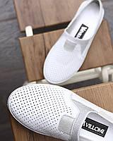 Белые женские туфли с перфорацией . Размер в наличии 36   37   39   40, фото 1