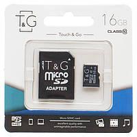 Карта памяти T&G microSDHC 16GB class 10 UHS-I (с адаптером)
