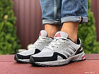 Кросівки Adidas Marathon чоловічі, сітка, світло сірі в стилі Адідас
