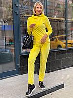 Жіночий спортивний костюм велюр Жовтий XXS-XХXL | женский велюровый спортивный костюм Желтый 40-52