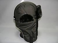 Зимняя шапка для мальчика ( хаки), фото 1