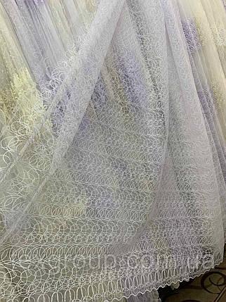 Фатиновая тюль с нежной вышивкой IST-1421, фото 2