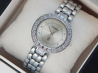 Женские кварцевые наручные часы Cartier на металлическом ремешке со стразами, фото 1