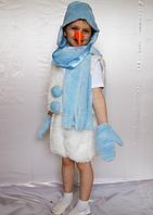 Карнавальный костюм Снеговик из меха для мальчиков от 3 до 6 лет