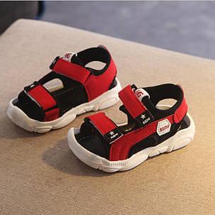 Босоножки детские  с защитным передом унисекс красные   15-30  р., фото 2