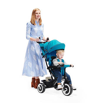 Трехколесный велосипед Kinderkraft Aston Turquoise +ВИДЕО ОБЗОР