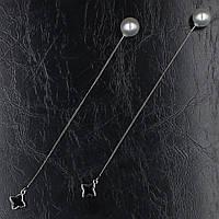 Серьги-протяжки женские S925 БижуМир
