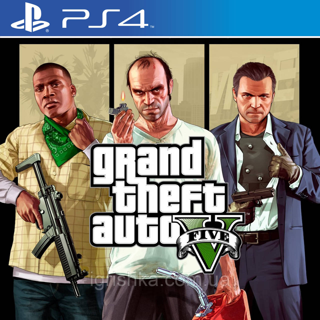 Grand Theft Auto V Ps4 (Цифровой аккаунт для PlayStation 4) П3