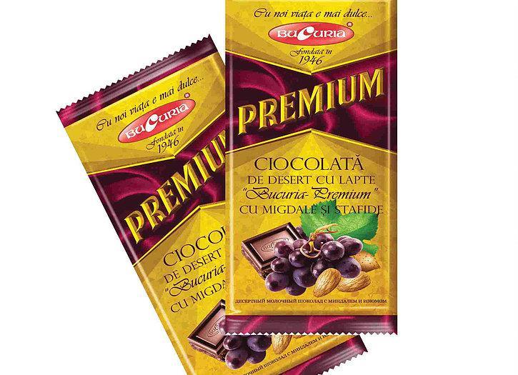 Шоколад с миндалем и изюмом