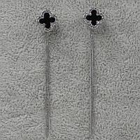 Серьги женские длинные  S925 БижуМир