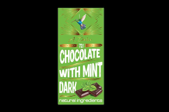 Шоколад темный 73% с мятой, фото 2