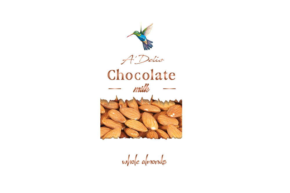 Шоколад с миндалем молочный