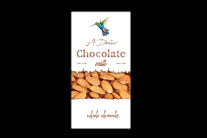 Шоколад с миндалем молочный, фото 2