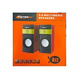 Компьютерные деревянные колонки акустика Hotmai A12, фото 2