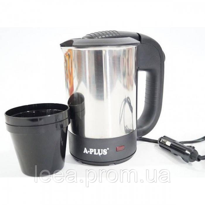 Автомобильный электрический чайник А-Плюс Ek-1700 0,5л с чашками