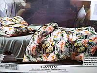 Сатиновое полуторное постельное белье BAYUN Luxury