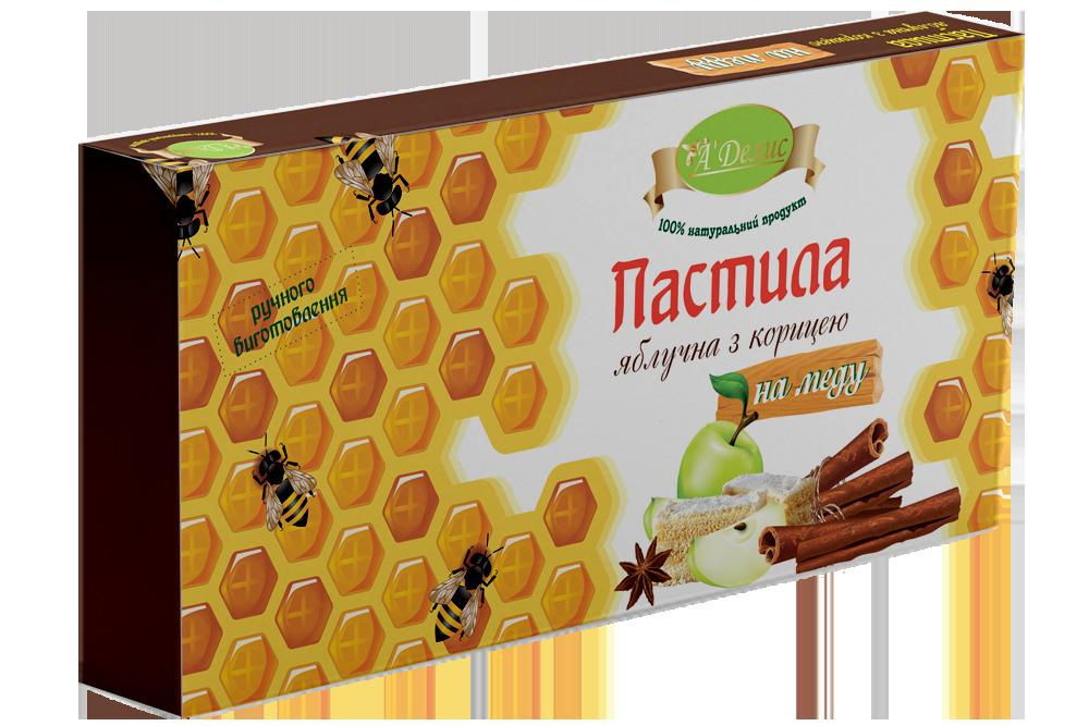 Пастила Яблочная с корицей на меду