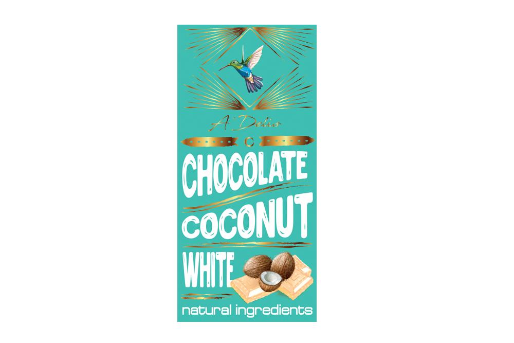 Белый шоколад с кокосом