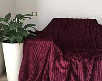 Полуторное велюровое покрывало East Comfort бордо