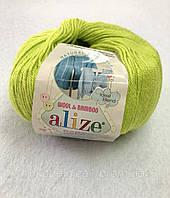 Пряжа Baby Wool 50гр - 175м (612 Зеленый) Alize, Детская пряжа (40%-шерсть, 20%-бамбук, 40%-акрил,Турция