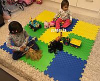 Детский игровой коврик-пазл (мат татами, ласточкин хвост) OSPORT 50cм х 50cм толщина 10мм (FI-0009), фото 1