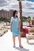Летнее платье женское Турецкая двунитка Размер 48 50 52 54 56 58 60 62 В наличии 2 цвета, фото 1