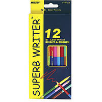 Карандаши цветные двухсторонние Superb Writer 12 шт. 24 цвета, Marco, 4110-12CB