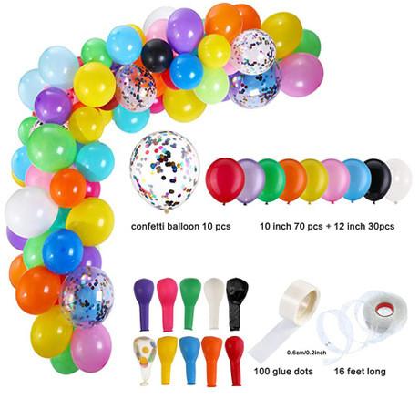 Набор Латексных шаров Разноцветные.